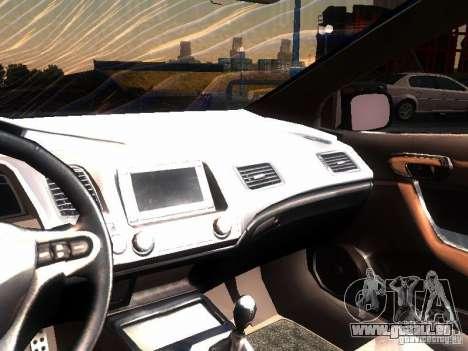 Honda Civic Si 2007 pour GTA San Andreas vue intérieure