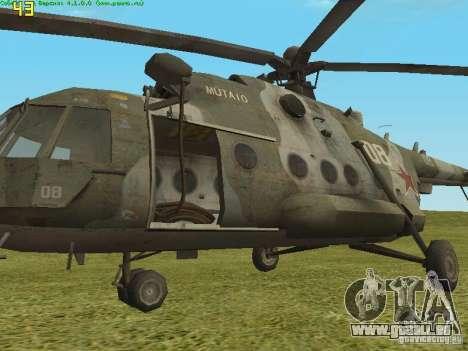 MI-8 MTV pour GTA San Andreas sur la vue arrière gauche
