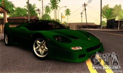 Ferrari F50 Spider für GTA San Andreas Rückansicht