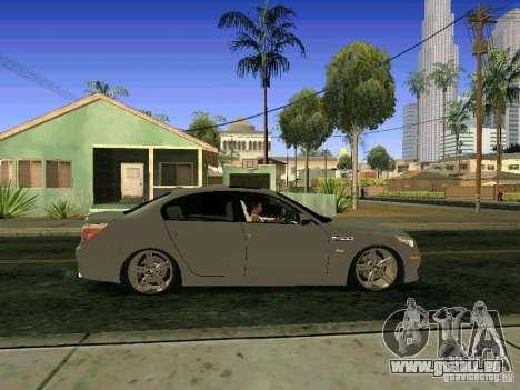 BMW M5 E60 pour GTA San Andreas vue intérieure
