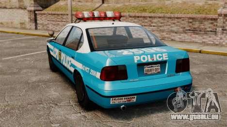 Declasse Merit Police Cruiser ELS pour GTA 4 Vue arrière de la gauche