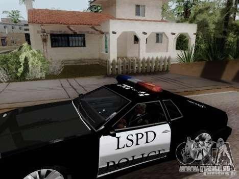 Elegy Police LS pour GTA San Andreas sur la vue arrière gauche