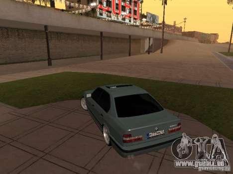 BMW E34 540i V8 pour GTA San Andreas vue arrière