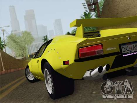 De Tomaso Pantera GT4 für GTA San Andreas Innenansicht