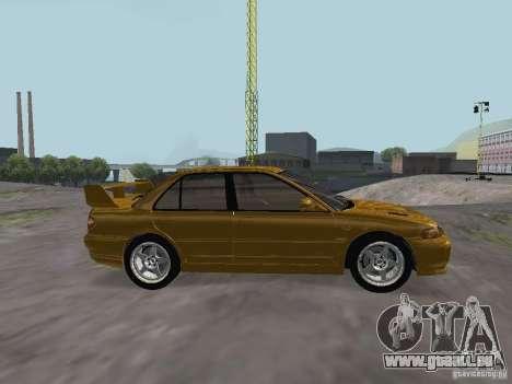 Mitsubishi Lancer Evolution III pour GTA San Andreas laissé vue