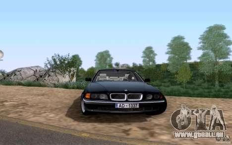 BMW 730i E38 pour GTA San Andreas laissé vue