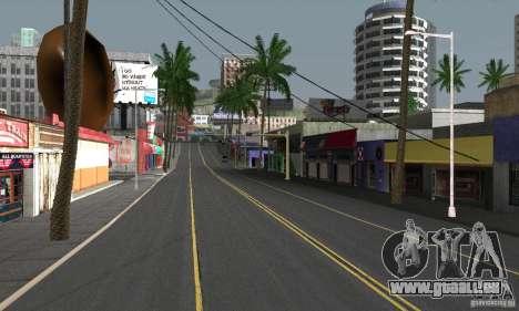 Real HQ Roads pour GTA San Andreas huitième écran
