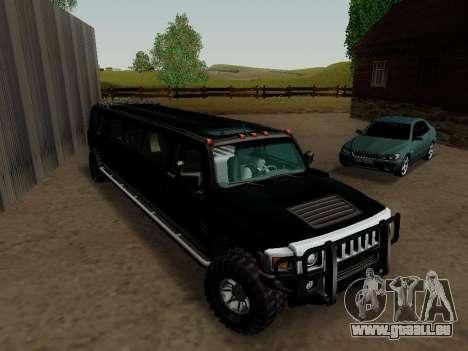 Hummer H3 Limousine für GTA San Andreas rechten Ansicht