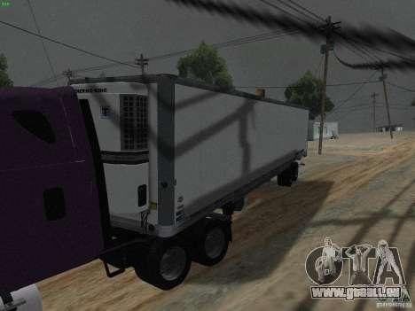 La semi-remorque à la Freightliner Cascadia pour GTA San Andreas laissé vue