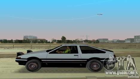 Toyota Trueno Sprinter pour GTA Vice City vue arrière