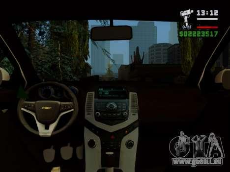 Chevrolet Cruze pour GTA San Andreas vue de côté
