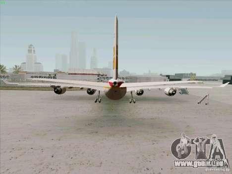 Airbus A-340-600 Iberia für GTA San Andreas zurück linke Ansicht