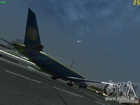 Boeing 767-300 AeroSvit Ukrainian Airlines für GTA San Andreas rechten Ansicht
