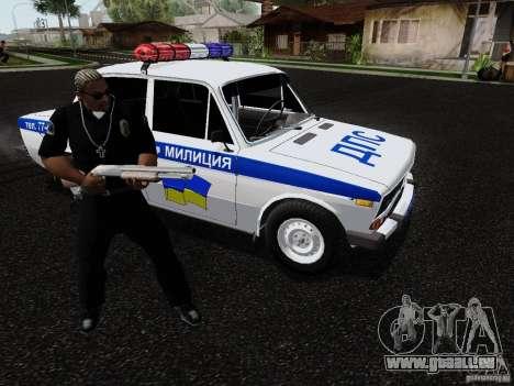 VAZ 2106 Polizei für GTA San Andreas Seitenansicht