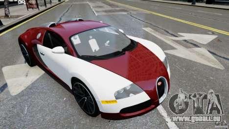Bugatti Veyron 16.4 v1.0 wheel 1 pour GTA 4 Vue arrière de la gauche