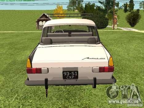 AZLK 412 für GTA San Andreas rechten Ansicht
