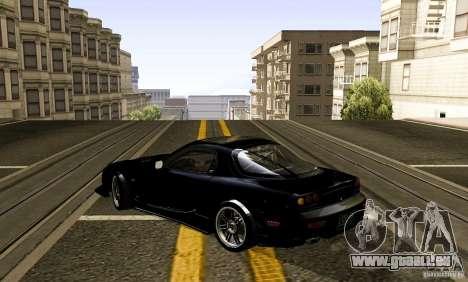 Mazda RX-7 C-West pour GTA San Andreas sur la vue arrière gauche