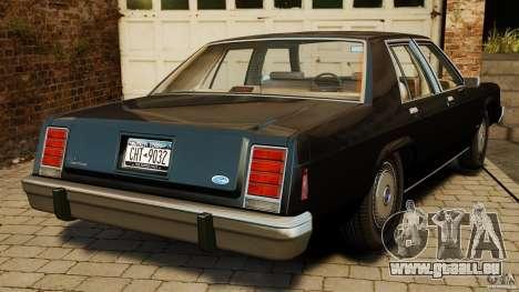 Ford LTD Crown Victoria 1987 für GTA 4 hinten links Ansicht