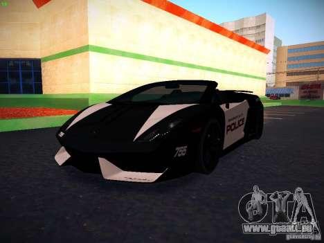 Lamborghini Gallardo LP570-4 Spyder Performante für GTA San Andreas Innenansicht