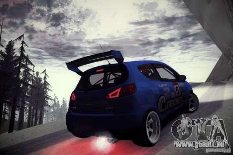 Mitsubishi Colt Rallyart Carbon 2010 pour GTA San Andreas vue arrière