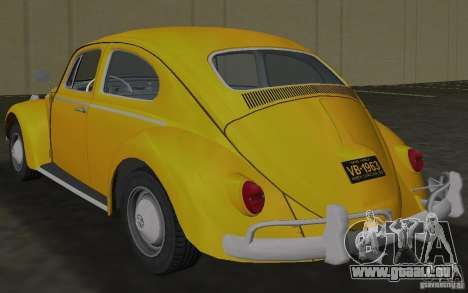 Volkswagen Beetle 1963 pour une vue GTA Vice City de la droite