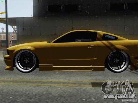 Ford Mustang GT Lowlife pour GTA San Andreas sur la vue arrière gauche