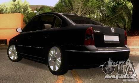 Volkswagen Passat B5 für GTA San Andreas obere Ansicht