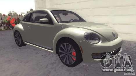 Volkswagen Beetle Turbo 2012 pour GTA San Andreas laissé vue