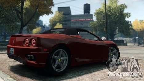 Ferrari 360 Spider 2000 pour GTA 4 est une gauche