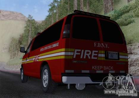 Chevrolet Express Special Operations Command für GTA San Andreas Innenansicht
