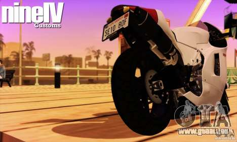 Ducati Desmosedici RR 2012 pour GTA San Andreas vue de droite