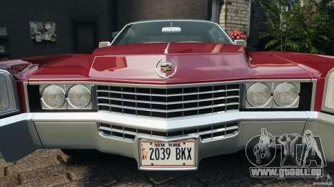 Cadillac Eldorado 1968 für GTA 4 Räder