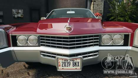 Cadillac Eldorado 1968 pour GTA 4 roues