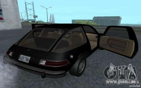 AMC Pacer für GTA San Andreas Rückansicht