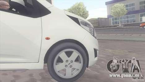 Chevrolet Spark 2011 pour GTA San Andreas vue de droite