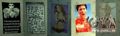 Nouvelles affiches dans le deuxième appartement pour GTA 4