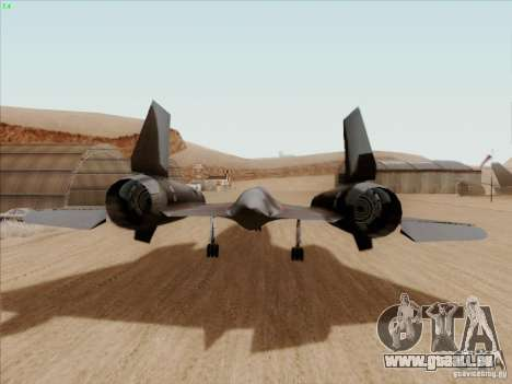 YF-12A pour GTA San Andreas vue de droite