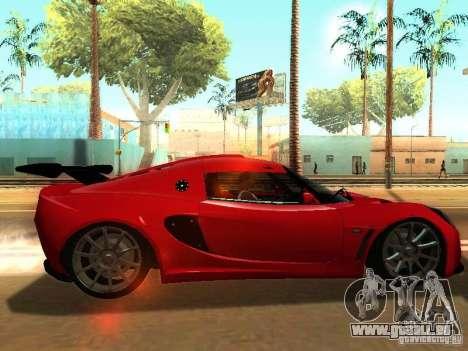 Lotus Exige 240R pour GTA San Andreas vue de droite