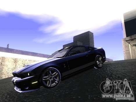 Ford Mustang Shelby GT500 pour GTA San Andreas laissé vue