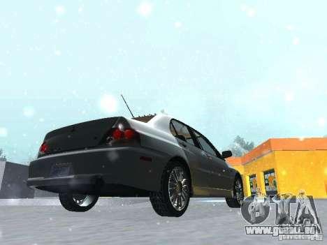 Mitsubishi Lancer Evo IX MR Evolution für GTA San Andreas Seitenansicht