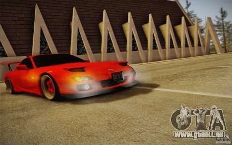 Mazda RX7 Hellalush V.2 pour GTA San Andreas vue de droite