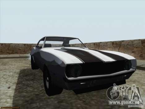Chevrolet Camaro 1969 für GTA San Andreas obere Ansicht
