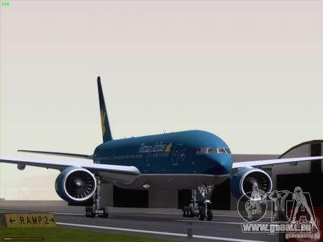 Boeing 777-2Q8ER Vietnam Airlines pour GTA San Andreas laissé vue