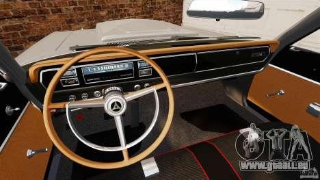 Dodge Coronet 1967 pour GTA 4 Vue arrière