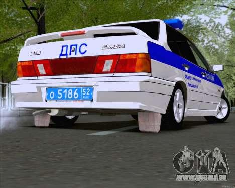 VAZ 2115 Police pour GTA San Andreas sur la vue arrière gauche