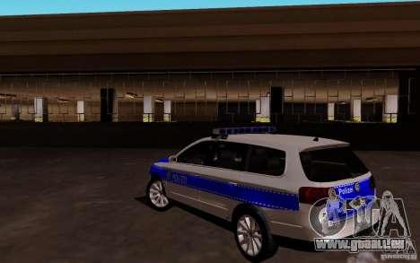 Volkswagen Passat B6 Variant Polizei pour GTA San Andreas sur la vue arrière gauche