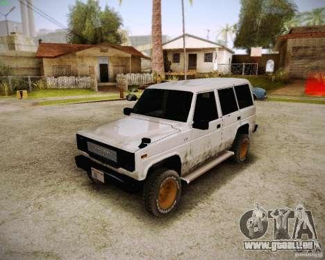 Daihatsu Taft Hiline Long pour GTA San Andreas