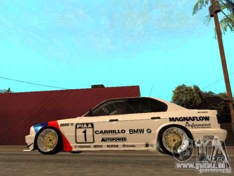 BMW E34 M5 - DTM pour GTA San Andreas laissé vue