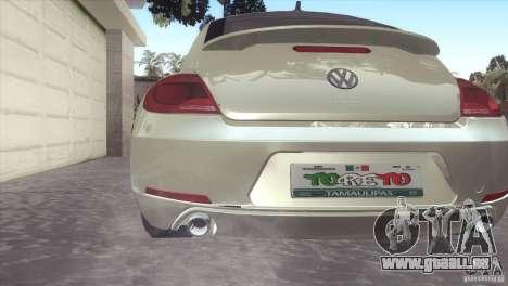 Volkswagen Beetle Turbo 2012 für GTA San Andreas rechten Ansicht