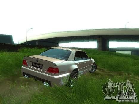 Mercedes-Benz W124 BRABUS pour GTA San Andreas sur la vue arrière gauche